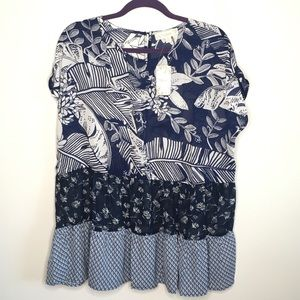 Blue and white summer top. Suzanne Betro
